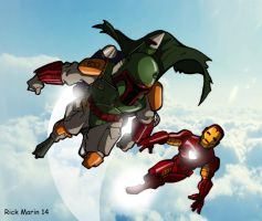 Boba Fett and Iron Man by Misterho