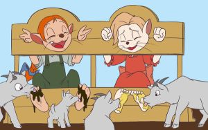 Becky and Amy in stocks by Phuram