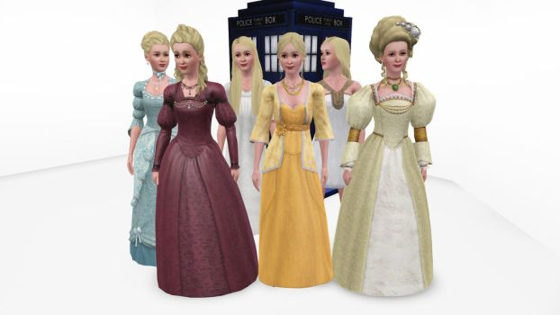 The Sims 3 - Doctor Who - Reinette Poisson by exangel42