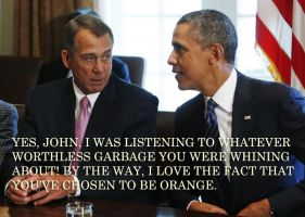 Boehner And Obama by Wilcox660