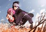 Sasusaku _ In the field by Griise