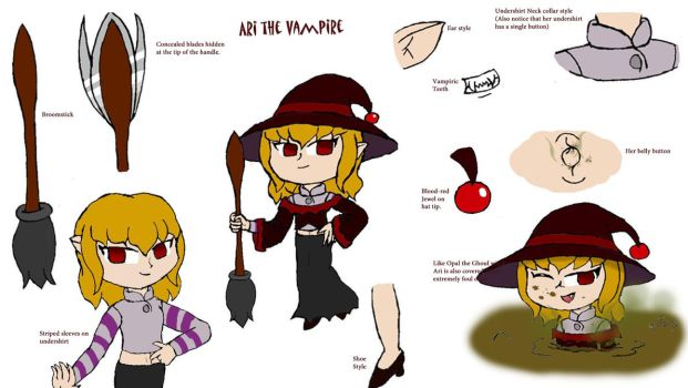 Ari the Vampire witch by Basher-the-Basilisk