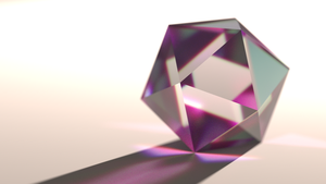 Icosahedron Refraction by zebroccoli
