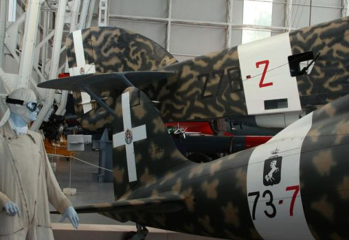 Tails (Macchi C.202 and SIAI SM.79) by DavidKrigbaum