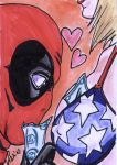 Deadpool Sketch Card by shinlyle