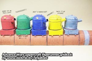 Papercraft Advance Wars Piperunner gridlock by ninjatoespapercraft