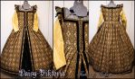 Black and Gold Elizabethan Gown by DaisyViktoria