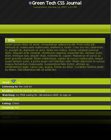 FREE Green tech Journal CSS by Kip0130