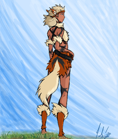 Gijinka Arcanine- King by RastaPickney-Juls