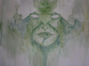 Green Man Painting WIP