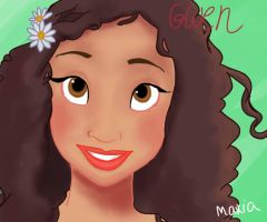 Gwen (Angel Coulby) - Disney style by Ribon95