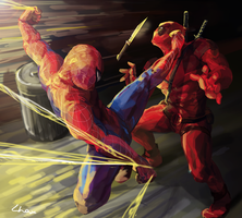 spidey kick! by Lhax