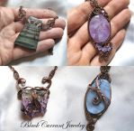 Mother Owl and other pendants by blackcurrantjewelry
