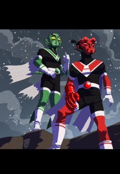 Henshin Heroes Hellboy and Abe Sapien... by tnperkins
