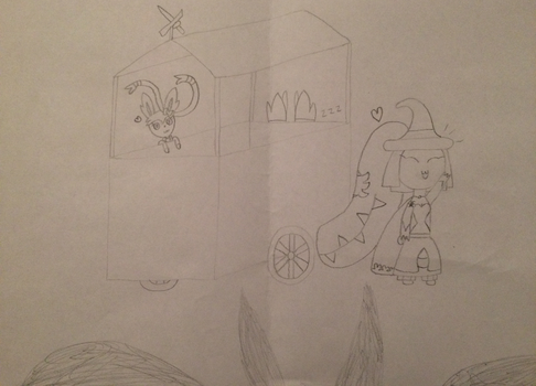 Milly and Madhavi's merchant. (Behest) by MawCarby