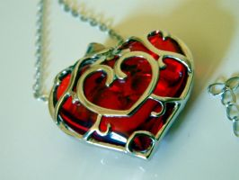 Heart Container Necklace 04 by kurocatclaw35