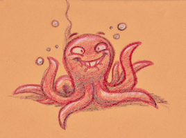 Crayon Doodle - The Octopunk by fnook