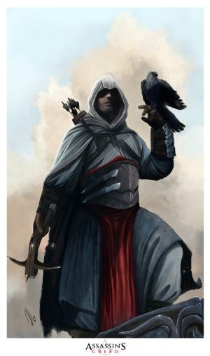 Top 10 Most Badass Characters In Movies,Animes and Video Games Assassin_s_Creed__Altair___by_adonihs