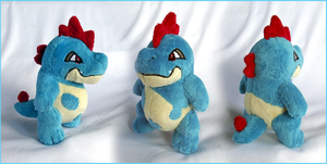 Little Croconaw Plush by xBrittneyJane