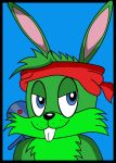 Green Combat Rabbit by Darkblitzie