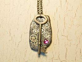 Steampunk key necklace by skuggsida