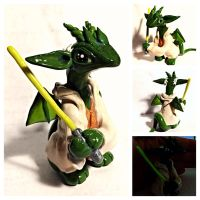 Yoda Dragon by LittleCLUUs