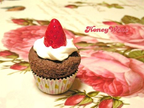 Chocolate cake magnet by rriee
