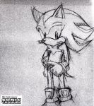 Shadow (Sonic channel sketch style) by Kokome17
