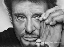 Johnny Hallyday by Mariannaeva