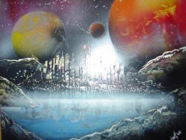 Spray paint art 9 by paulwk