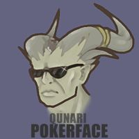 DA2: Qunari Pokerface by Zethian