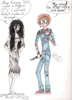 Chucky and Samara by KneeLee-QuoteUnquote