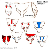 Inari Mask designs by FoxxFireArt