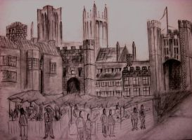 The City of Wells, Marketplace by Guppy0031