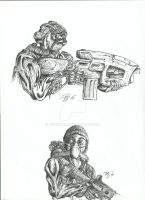 Different kinds of fighters by Braendis