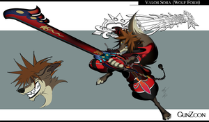 Valor Wolf Sora Full Color WIP by GunZcon