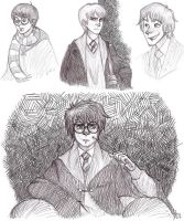HP sketches by Kriegswaffle