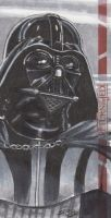 Star Wars ROTJ 3D - Darth Vader Sketch Art Card RC by DenaeFrazierStudios