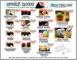 Sushi Menu by Jonisey