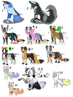 Many adopts by Itsi-Pew