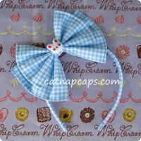 Blue Bunny Head Bow by CatNapCaps
