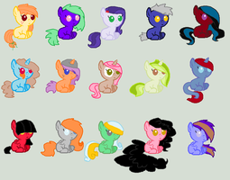 Baby Mlp Adopts by REDandYELLOWZ