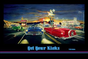 Get Your Kicks poster by TWStatonGallery