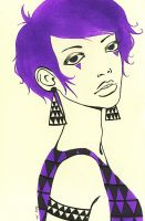 -spray-Painted Ladies: Violet by TheTinyHobo