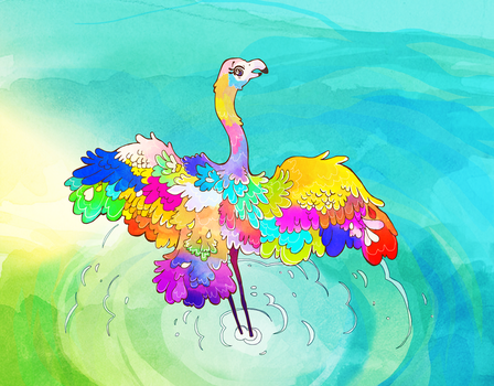 Fiona Flamingo Illustration- Book Preview by nettlebeast