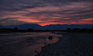 Clark Wyoming Sunset by Halcyon1990