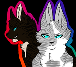 Hawkfrost and Ivypool REMAKE by Raillain
