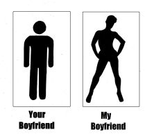 T-shirt design -Your Boyfriend My Boyfriend by Gay-Girl100