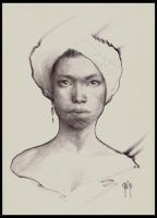 Bic Afican Girl by OAK-Art-Gallery