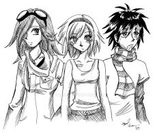Emma, Oz, and Quin by Tamao